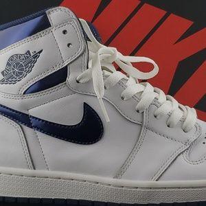 "Air Jordan 1 OG ""Metallic Blue"" Size 10.5"